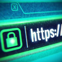 Secure Website Symbol, Website Address bar with https:// showing